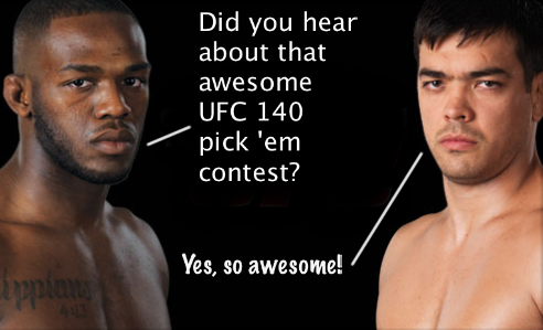 UFC 140 Main Event Pick 'em Contest sponsored by UFCstore.com