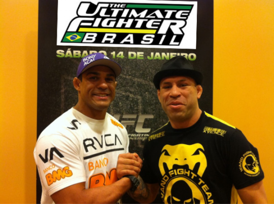Wanderlei Silva and Vitor Belfort face off as coaches of The Ultimate Fighter Brazil