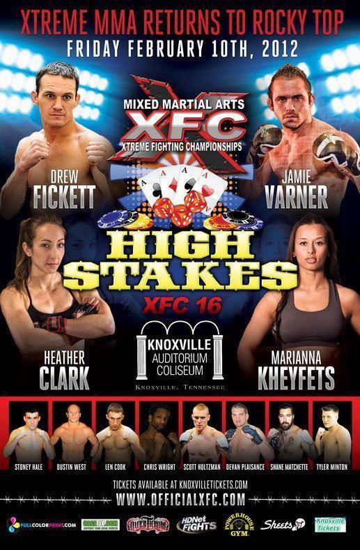 XFC 16 main event set with Jamie Varner vs. Drew Fickett