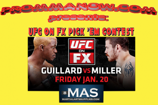 UFC on FX Pick 'Em Contest sponsored by MartialArtsSupplies.com