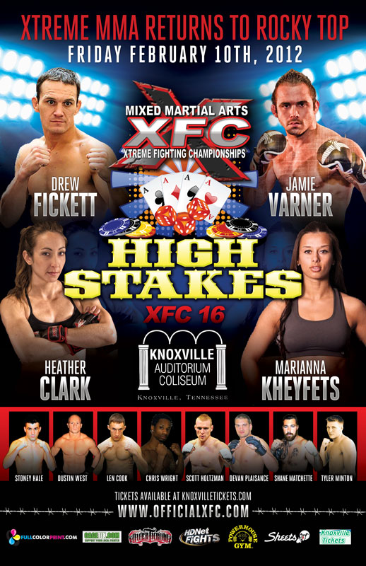 """Expect fireworks when Stoney Hale takes on Dustin West at XFC 16: """"High Stakes"""""""