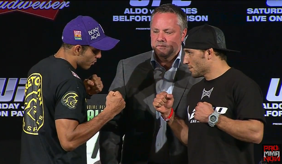 Pictures: UFC 142 pre-fight press conference