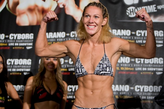 Cris Cyborg tells Rousey to stop running; willing to meet her in parking lot Saturday night