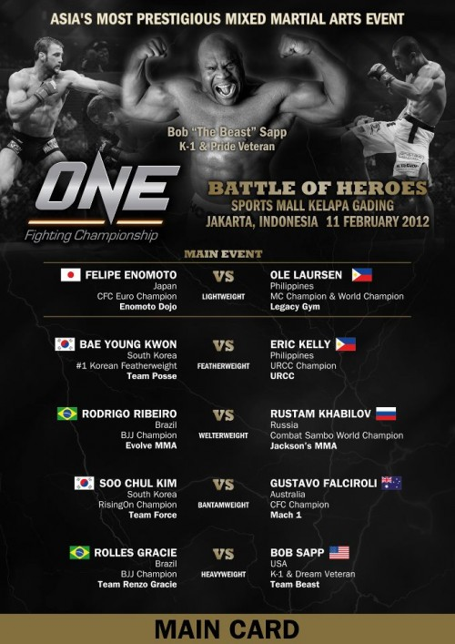 """One FC 2: Battle of Heroes"" – results and play-by-play"