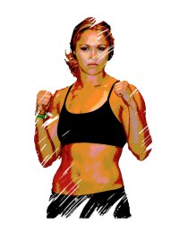 rousey - painted