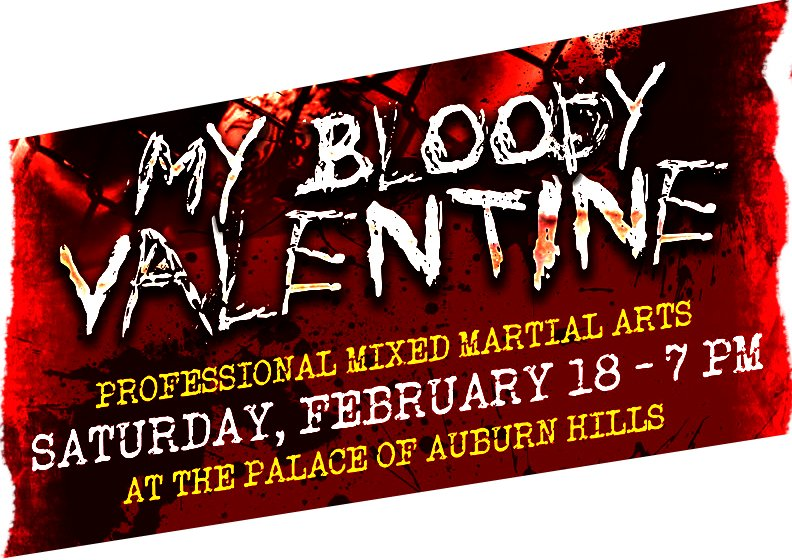 """Official weigh-in announcement for """"My Bloody Valentine"""" event in Michigan"""