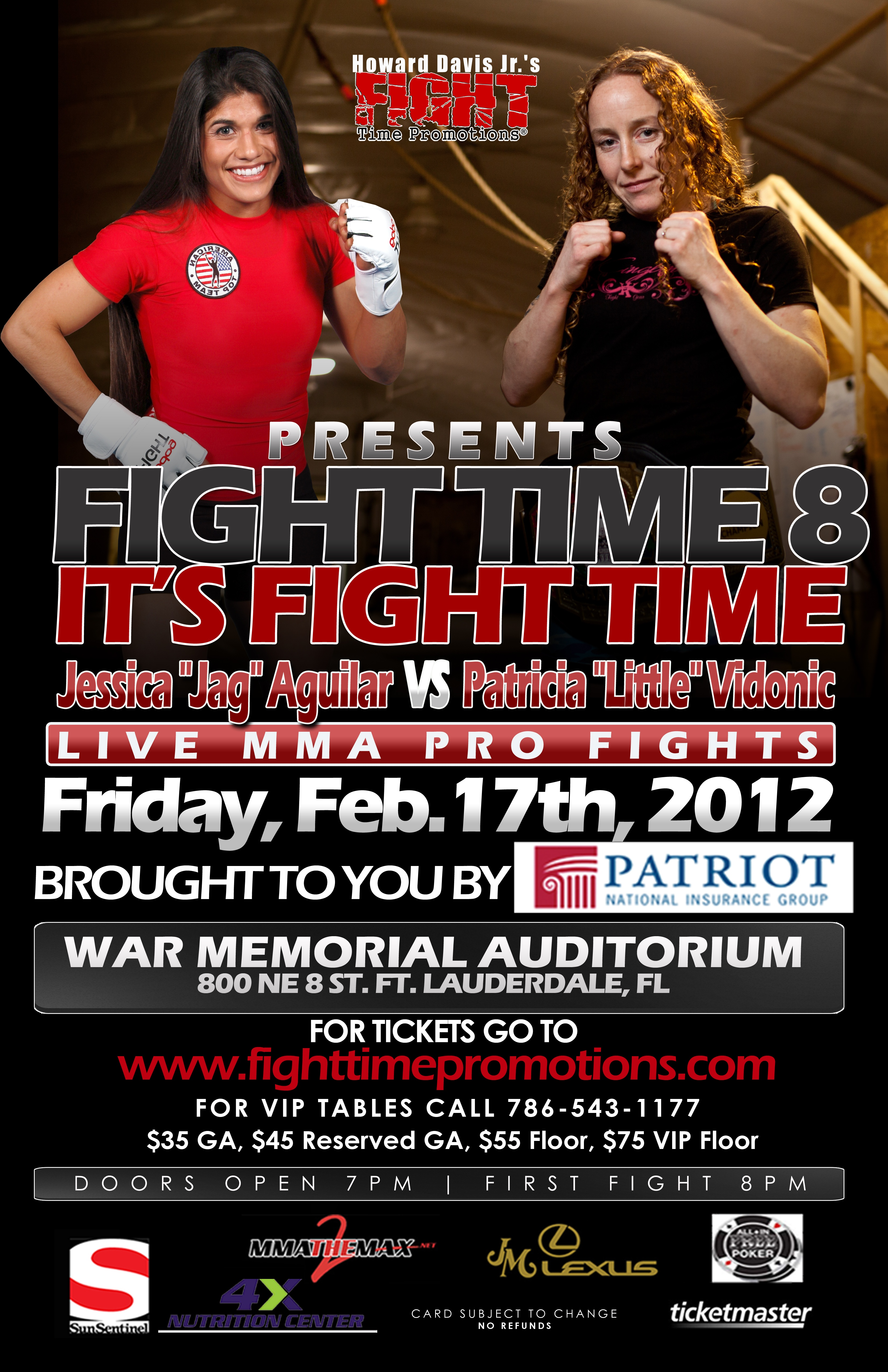 Fight Time 8 event set for February 17th in Fort Lauderdale, Florida