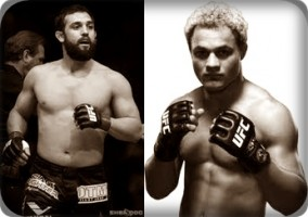 Johny Hendricks(left) faces Josh Koscheck at UFC on FOX 3