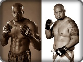 Cheick Kongo(left) will face Mark Hunt at UFC 144 in Japan