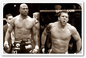 Rampage Jackson(left) will face Ryan Bader at UFC 144 in Japan