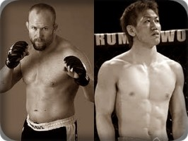 Tim Boetsch(left) will face Yushin Okami at UFC 144