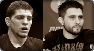 Nick Diaz(left) will face Carlos Condit at UFC 143