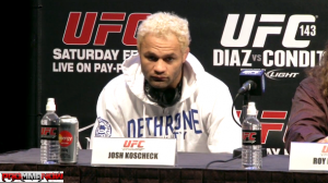 Josh Koscheck thinks the UFC should have offered him a job