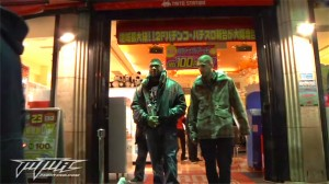 rampage and helwani leaving the tokyo arcade