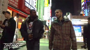 rampage and helwani walking the streets of tokyo