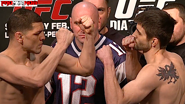 UFC 143 LIVE weigh-in results and photos