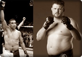 Fabricio Werdum(left) will face Roy Nelson at UFC 143