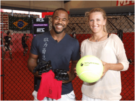 Rashad Evans and Victoria Azarenka Photo: Sony Ericcson Open