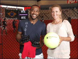 UFC and WTC collide as Rashad Evans meets Victoria Azarenka
