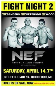 New England Fights: Mike Winters vs. Ryan Sanders to main event Fight Night 2 on April 14th