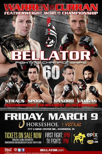 "Bellator 60 results: Curran dismantles Warren, while ""Popo"", Sandro, Corey, Strauss reach featherweight semifinals"