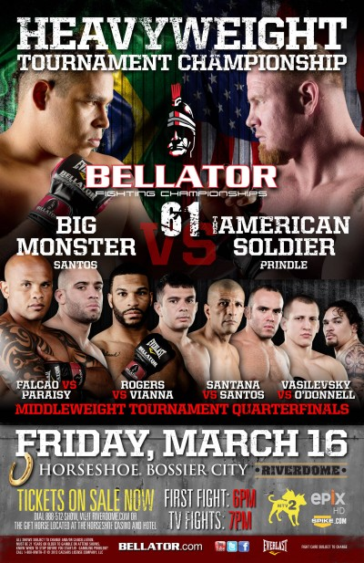 Bellator 61: Falcao, Santos, Vasilevsky, and Rogers all win in middleweight quarterfinals