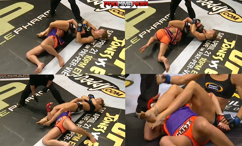 Ronda Rousey submits Miesha Tate by armbar, wins title