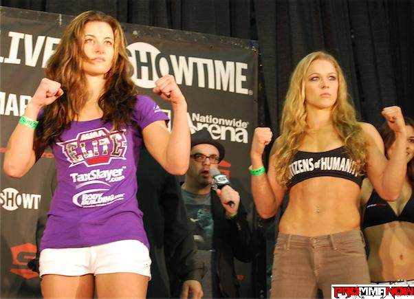 'Strikeforce: Tate vs. Rousey' weigh-in results and photos