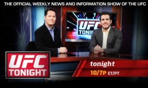 """UFC Tonight"" is the official weekly news and information show of the Ultimate Fighting Championship, airing every Tuesday night at 10:00 PM ET on FUEL TV. The show is co-hosted by veteran UFC fighter and multiple title contender Kenny Florian and former UFC host and WEC Announcer Todd Harris. Two-time World MMA Awards Journalist of the Year Ariel Helwani adds insider news."