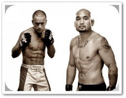 Hominick (left) will face Eddie Yagin at UFC 145
