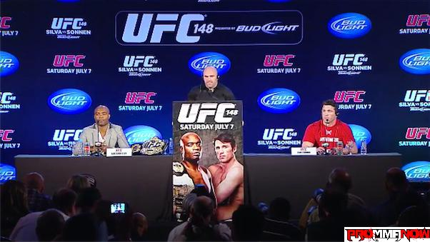 Watch today's UFC 148 main event press conference LIVE on ProMMAnow.com at 2 p.m. ET