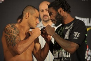 Marlon Sandro(left) squares off against Daniel Strauss