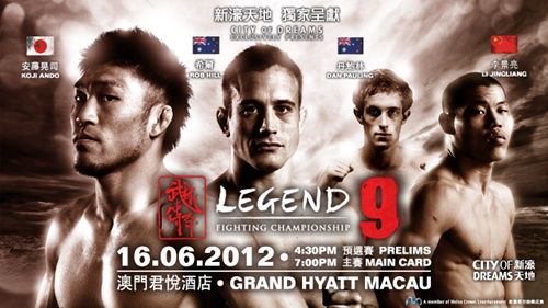 Koji Ando will face Rob Hill at Legend Fighting Championship 9 in June