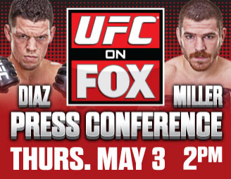 Watch today's UFC on FOX 3 press conference LIVE on ProMMAnow.com at 2 p.m. ET