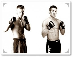 Spencer Fisher (left) will face Sam Stout for the third time on Friday night