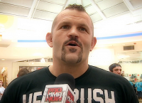 Check out old school Chuck Liddell fighting bare fisted