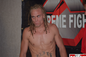 "SSF Academy's Nate ""The Train"" Landwehr left a big impression on the XFC 18 crowd. Photo by Jack Bratcher for ProMMAnow.com"