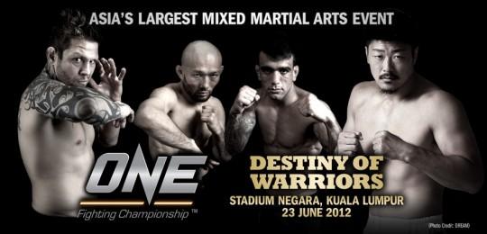 Renato Sobral vs. Tatsuya Mizuno to headline 'ONE FC: Destiny of Warriors' on June 23