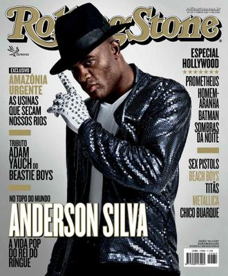 Anderson Silva makes the cover of Rolling Stone Brazil