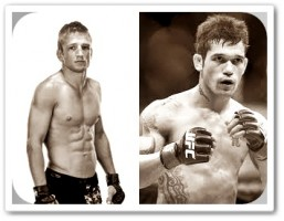 TJ Dillashaw (left) faces Vaughn Lee at UFC on FUEL TV 4