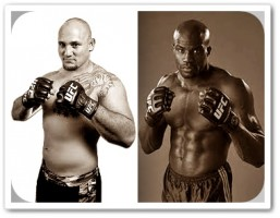 Shawn Jordan (left) will face Cheick Kongo at UFC 149