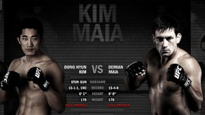 Dong Hyun Kim (left) will face Demian Maia at UFC 148