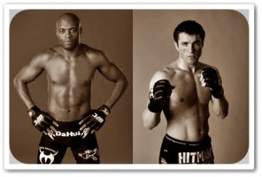 Anderson Silva (left) will face Chael Sonnen at UFC 148