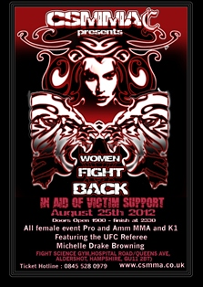 Women Fight Back: 8-fight all women's event in aid of victim support to take place in the U.K.