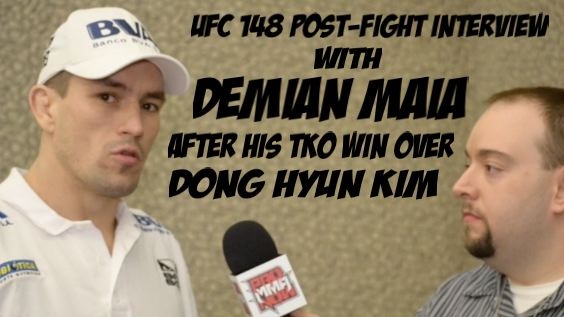 Interview: Demian Maia on his UFC welterweight debut victory at UFC 148