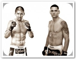 Mark Munoz (left) faces Chris Weidman at UFC on FUEL TV 4