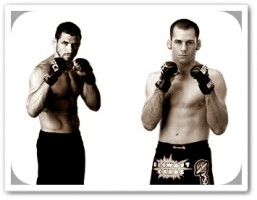 Aaron Simpson (left) will face Kenny Robertson at UFC on FUEL TV 4