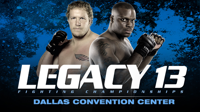 Legacy Fighting Championships 13 airs tonight on AXS TV