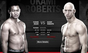 Yushin Okami (left) will face Buddy Roberts at UFC 150
