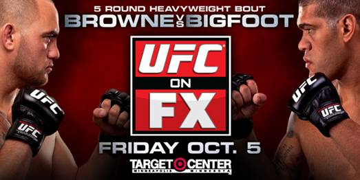 UFC on FX 5: Browne vs. Bigfoot tickets on sale August 10th